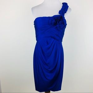 Adrianna Papell Evening blue one shoulder dress